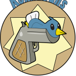 Birdgun, T-shirt Design, pixels