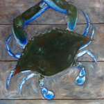 "Blue Crab, Acrylic, 38"" x 42"""