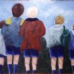 """The Boys, 18"""" x 36"""", acrylic"""