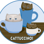 Catucinno, T-shirt Design, pixels