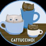 Catucinno, T-shirt Design, pixels