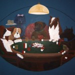Dog&#039;s Poker, 6&#039; x 10&#039; mural, acrylic