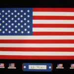 "Flag, 12"" x 18"", paper"