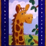 Lil&#039; Giraffe, 4&quot; x 6&quot;, acrylic