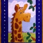 """Lil' Giraffe, 4"""" x 6"""", acrylic"""