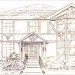 "Kim's House, 10"" x 14"", pencil"