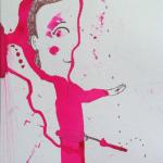 "PinkBoy, 8"" x 18"", ink"