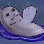 Seal of Approval, T-shirt design, Acrylic