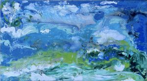Big wave abstract painting